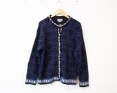 Vintage Winter Wool Nordic Snowflake Sweater 224