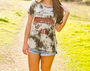 You can't ride in my little red wagon summer Tank