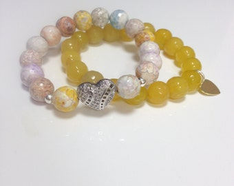 Yellow and Soft color beads