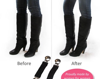 "Boot Snugs: 5"" Long Length Pant Clips, Pant Straps, Boot Straps, Stirrups- Keep Pants Jeans Snug in Your Boots"