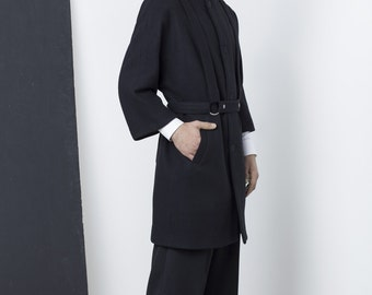 Mens Coat Mens Wool Coat Mens Black Coat Mens Long Coat Mens