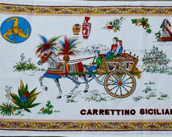 Carettino Siciliano Tea towel