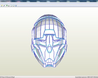 Destiny helmet. Template for RFQ archive