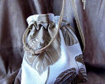 "11"" x 11.5"" Lined Drawstring Tote Bag"