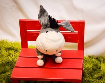 Big Donkey Crocheted Stuffed Animal/Toy (Made to Order)