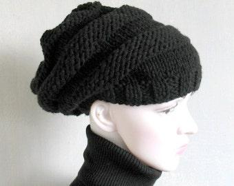 Mens Beanie Hat Black Hat Mens Slouchy Beanie  Mens Hat Mans Hat Mens Knit Hat Mens Slouch Beanie  Mens Knit Beanie  Mens Knitted Hat