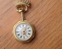Sheffield Wind Up Necklace Pendant Watch - Elisabeth de France - Swiss Made