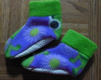 0-18 Mo. Baby Fleece Slippers with Gripper Soles