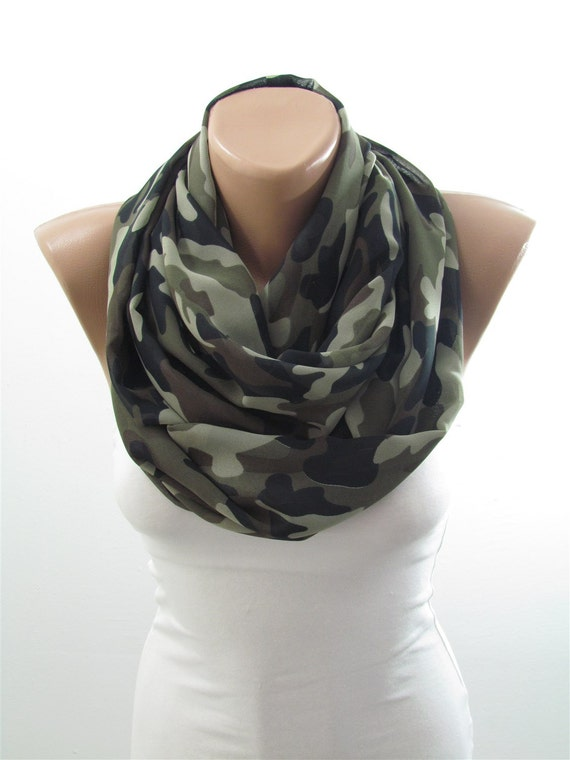 Camo Scarf Infinity Scarf Camouflage Scarf Circle By