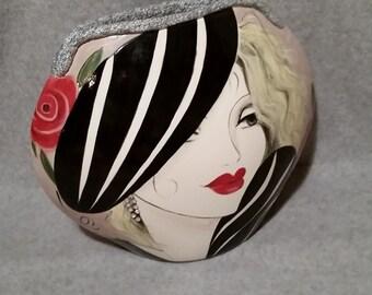 Handpainted Ceramic Vase - Home Decor - Unique Vase - Art Accessories - Black White Vase - Flower Vase - Decorative Vase -Unique Gift