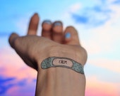 15 Motivational Bandage Tattoos: The Cute Set - Inspirational Bandaid Temporary Tattoos with Positive Affirmations and Quotes. Self Care Kit
