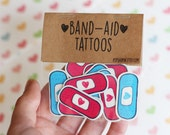 Band-Aid Tattoos ~ Healing Hearts ~ Love & Get Better Bandages ~ Band-Aid Uplifting Tattoos ~ Positive Hearts Plasters ~ Valentines Day Gift