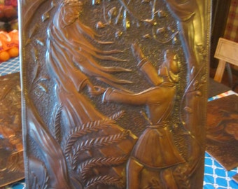 Copper Relief Handcrafted Picture/Plaque