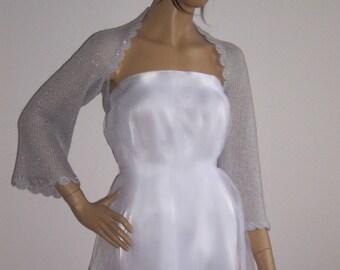 Silver Shrug, Wedding Bolero, Bridesmaid Accessories, Wedding Wrap, Shawl