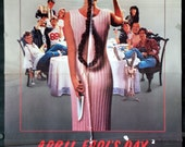 April Fools Day - Original 1986 Horror Movie Poster - Deborah Foreman - Guess Who's Going To Be The Life Of The Party?
