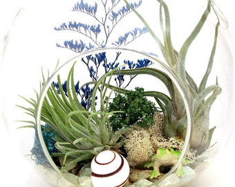 Christmas Decorations, Glass Ornaments In The Tropics Terrarium™ ~ For Couples First Christmas Boss Gift Holiday Ornaments