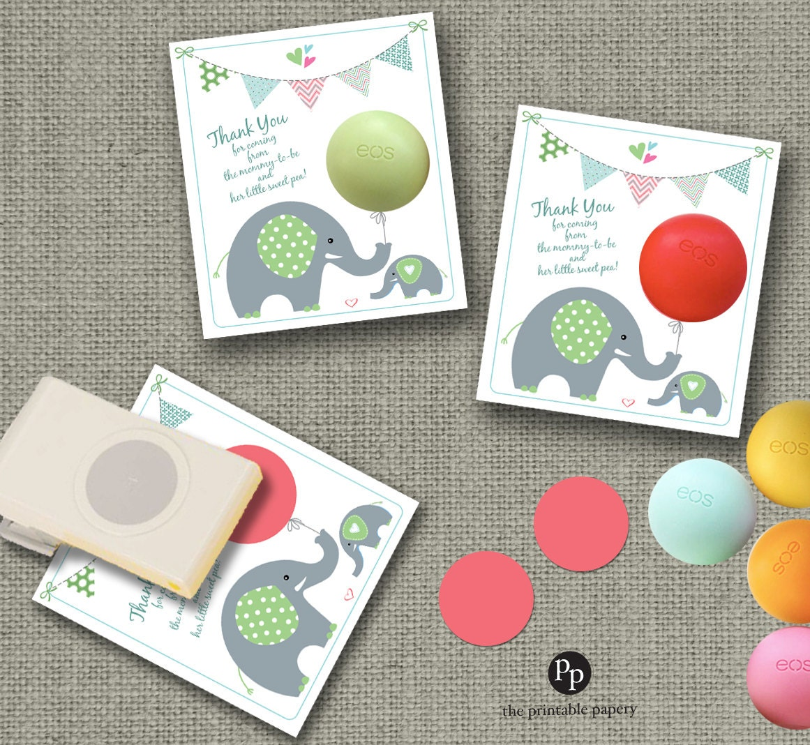 Baby Shower Party Favors For Eos Lip Balm Thank You Gift