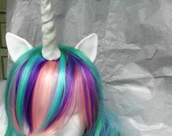 Unicorn Wig, Princess Celestia,Costume Hair, MLP Costume My Little Pony , my little pony cosplay Pony, Unicorn Wig, Unicorn Costume,