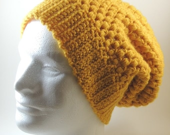 Puff Stitch Slouchy Beanie - Three Sizes - Various Colors - MTO
