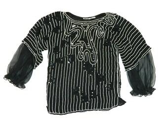 Vintage Sequin Blouse