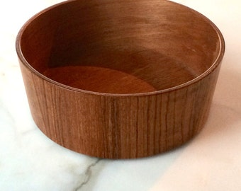 Vintage Danish Modern Teak Bowl - Mid Century Modern Bowl - Dansk Style Catch-all