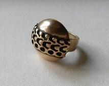 Vintage Bronze Ring, Pentti Sarpaneva, Finland (F75)