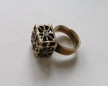 "Vintage ""Pitsi"" Bronze Ring by Pentti Sarpaneva, Finland (F206)"