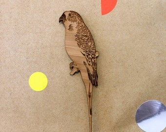 Wooden DUO Budgie Parakeet Budgerigar Laser Cut  Supplies