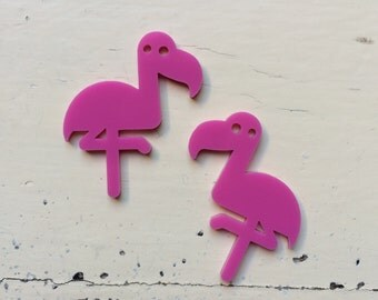 Pair FLAMINGO FANCIES Laser Cut Acrylic Jewelry Making Supplies