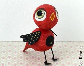 Mini Red and black bird