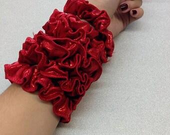 Heathers Red Glitter Scrunchie