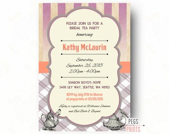 Bridal Tea Party Invitation // Printable Bridal Tea Invitation // Tea Party Bridal Shower Invitation // Tea Bridal Shower // Shabby Chic