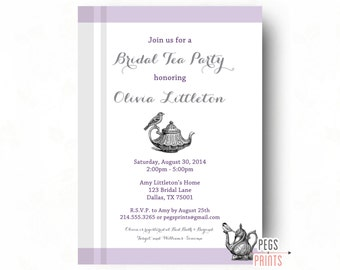 Bridal Shower Tea Invitation - Bridal Shower Tea Party Invitation - Tea Party Bridal Shower Invitation Printable - Tea Bridal Shower
