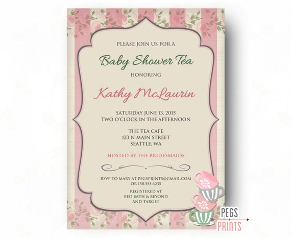 Baby shower tea party invitation printable baby shower invitation il570xn filmwisefo