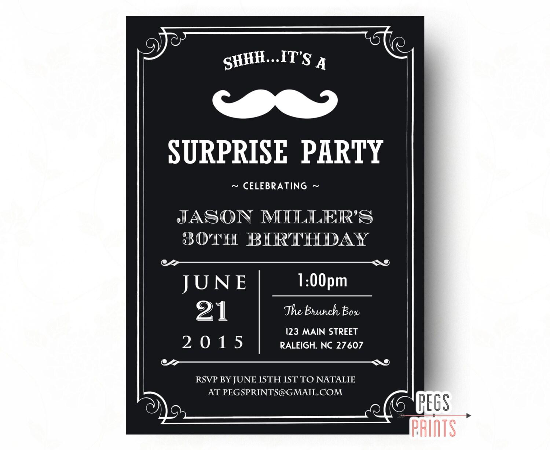 Adult Surprise Birthday Invites Surprise 30th Birthday