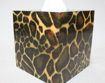 Tissue Box Cover with Gepard Skin Design, a Great Gift for a Birthday, Housewarming, Friends
