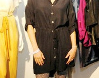 Silk blouse dress organic summer spring