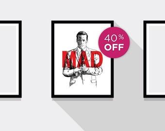 ON SALE!!! Don Draper Mad Men TV Print
