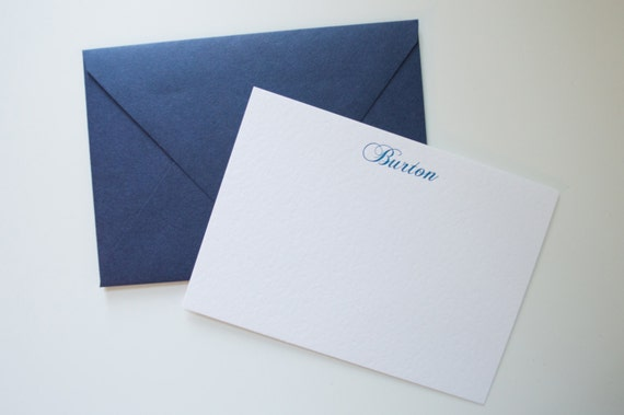 Navy  Blue 4 bar envelopes - set of 10 - high quality (Wholesale Pricing)