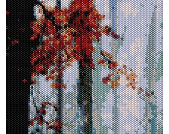 Forêt aux branches rouges - LARGE PATTERN