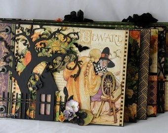 Halloween Album, Mini Album, Graphic 45, An Eerie Tale, Photo Album, Scrapbook Album