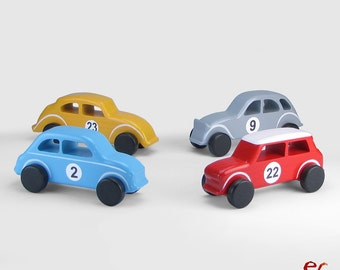 Wooden Toy Cars, Wooden Toys for Boys, Handmade Gift, Classic Cars (set of 4 cars)