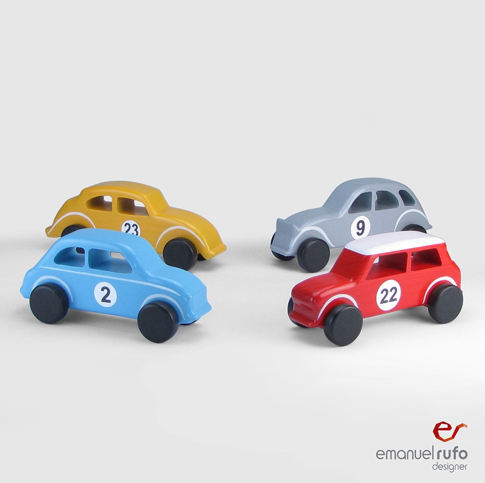 Wooden Toys For Boys : Wooden toy cars toys for boys handmade gift classic