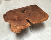 HOLD for RACHEL - Amazingly Figured Walnut Burl, Live Edge Coffee Table