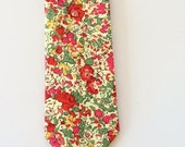 Red Wedding Tie, Red Liberty of London Tie, red floral tie, liberty of london necktie, liberty print tie, holiday tie, Christmas tie, skinny
