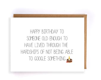 funny happy birthday card, funny birthday greeting cards for him, cute handmade greeting card for husband, mom, dad, friend, brother GC88