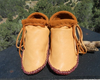 Handmade Leather Moccasin Shoes, Natural Soft Sole, Hand Sewn, Earthing, Boho, Hippie