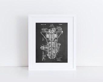 Henry Ford Transmission Patent Poster, Car Part Art, Engine Art, Automotive Decor, Vintage Car, PP0289