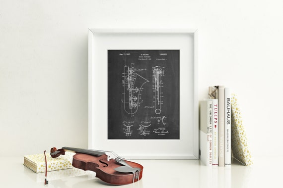 Saxophone poster musician gifts saxophone blueprint music like this item malvernweather Choice Image