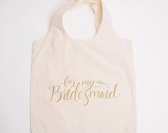 Bridesmaid Bag, Canvas Tote, Wedding Guest Bag, Bridesmaid Gift Bag, Hotel Bag, Favor Bag, Bachelorette Tote, Bridesmaid Tote, Bridal Party